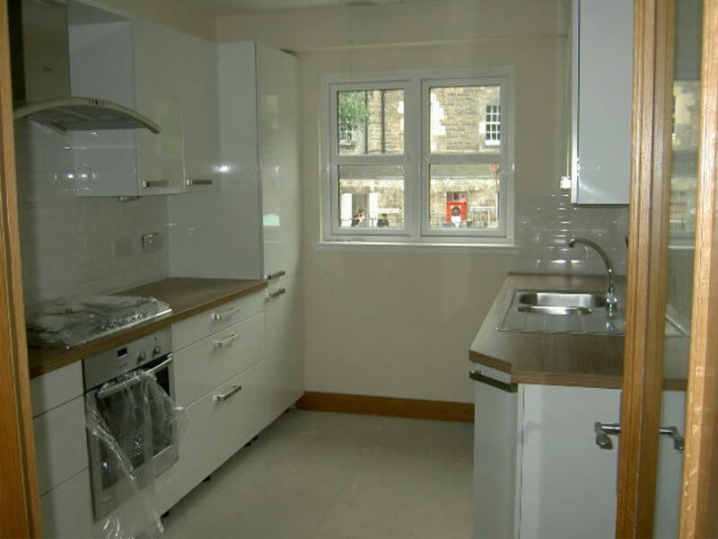 New Townhouses in Central Edinburgh - Kitchen view 2