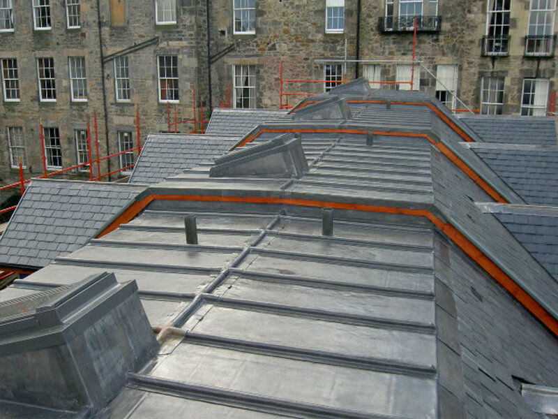 New Townhouses in Central Edinburgh - Lead roof