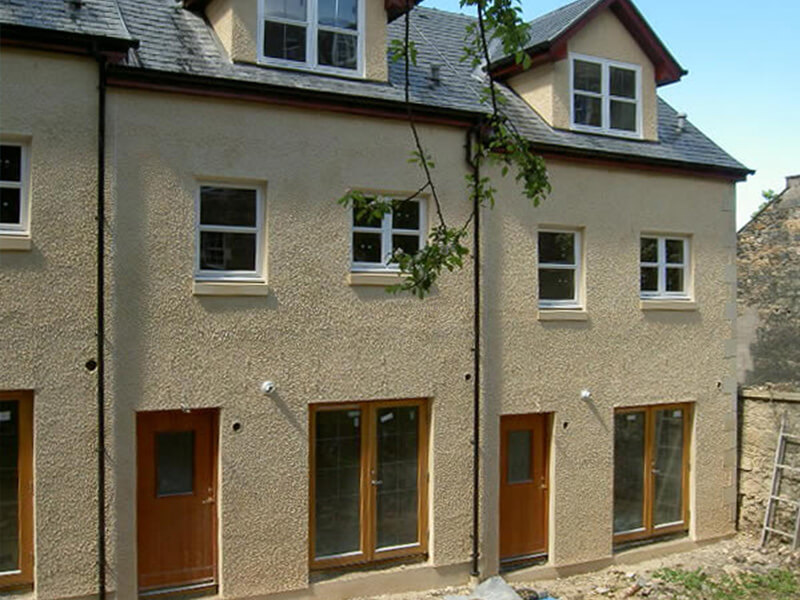 New Townhouses in Central Edinburgh - Rear view
