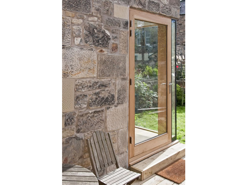 External oak door. Photo: Alan Craigie