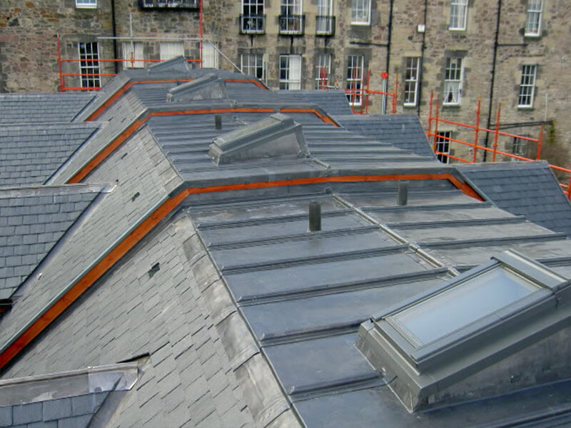 Lead roof on new build Townhouses