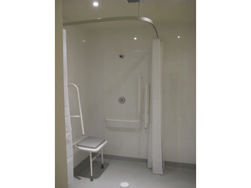 Bathroom adaptation for wheelchair access